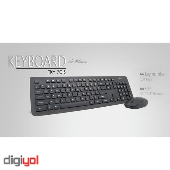 TSCO TKM-7018 Wireless Keyboard and Mouse
