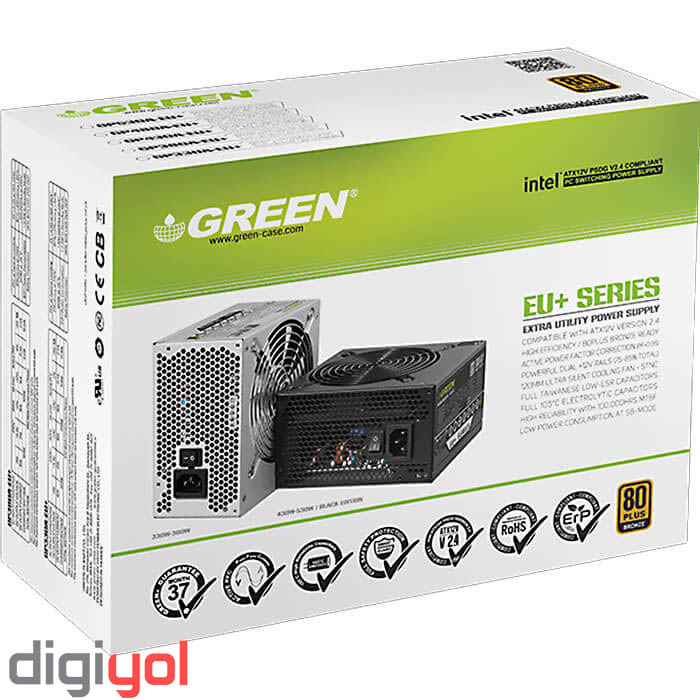 Green/قطعات اصلی/Green GP-380A-EU+ 80 Plus Bronze Power Supply