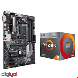 ASUS PRIME B450-PLUS AM4 Motherboard +  AMD Ryzen™ 5 (3350G) Desktop TRAY CPU