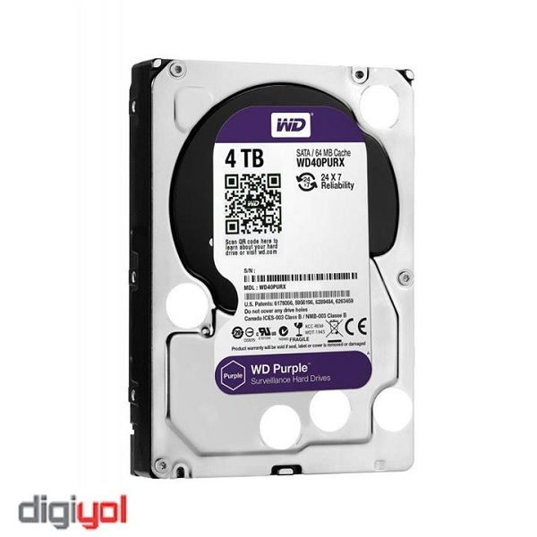 Western Digital WD40PURz Purple 4TB 64MB Cache Internal Hard Drive